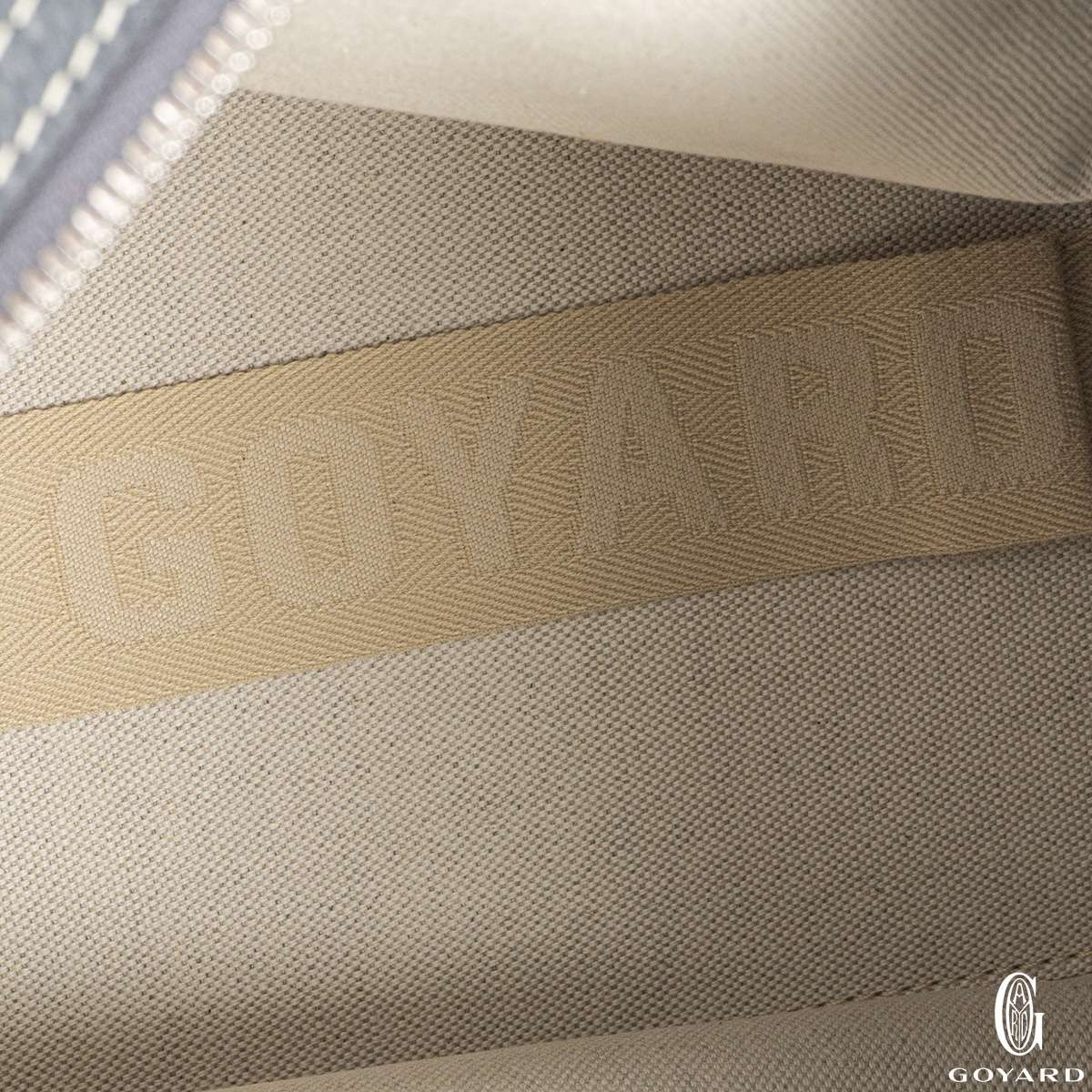 Goyard Grey Goyardine Canvas Sac Hardy PM Tote Bag